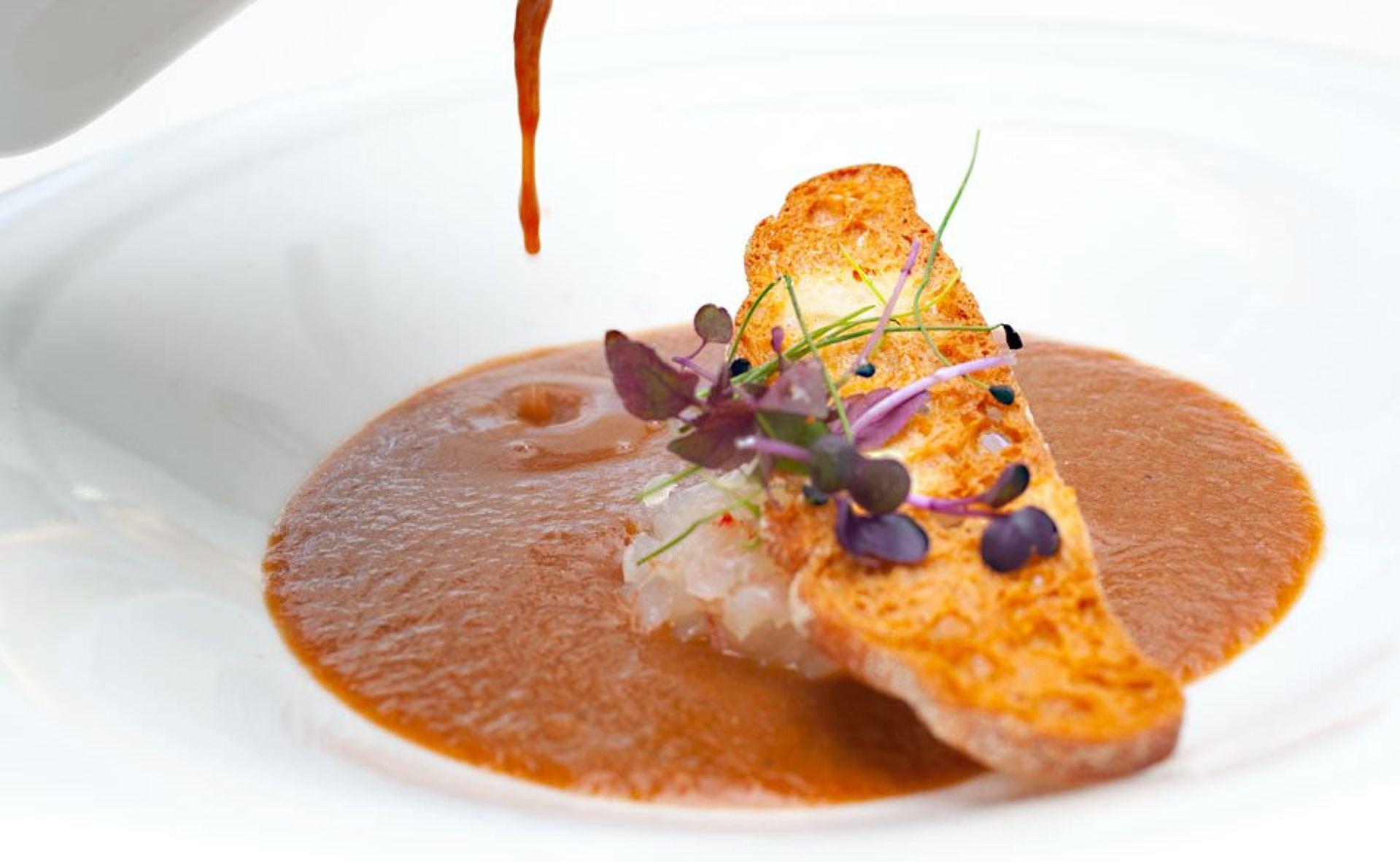The restaurant. Fresh-produce cuisine